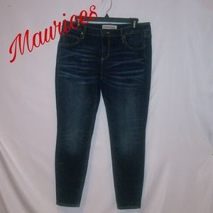 Maurices Skinny True Blue Jeans; Size 31x28